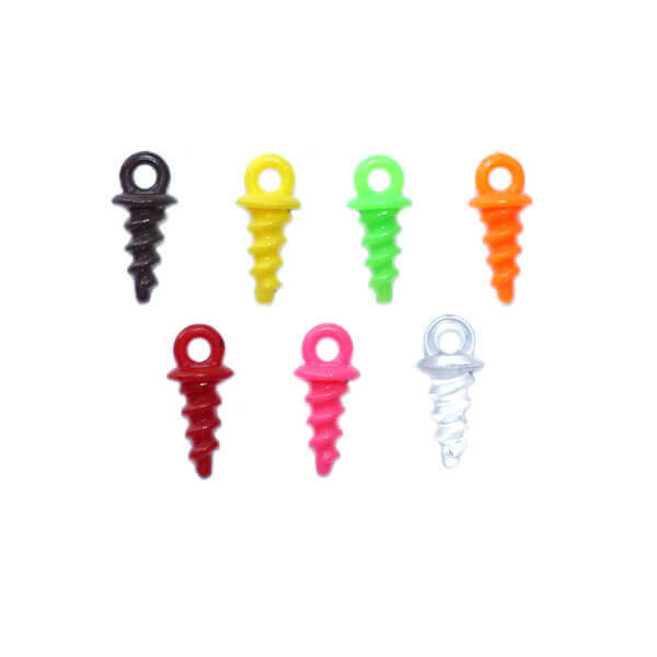 plastic bait screws multicolor